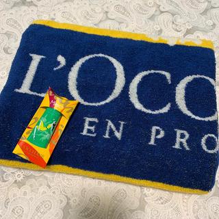 ロクシタン(L'OCCITANE)のロクシタン バスタオル&ハンドクリーム新品(タオル/バス用品)