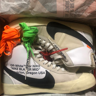 OFF-WHITE - OFF WHITE NIKE Blazer Mid THE TEN