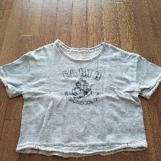 アースミュージックアンドエコロジー(earth music & ecology)の裏パイル地Tシャツ グレー(Tシャツ(半袖/袖なし))