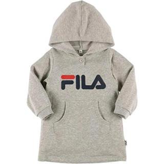 フィラ(FILA)のFILA(フィラ) パーカー長袖ワンピース90cm グレー フード付きトレーナー(ワンピース)