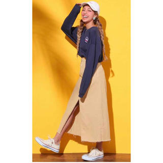 アナップ(ANAP)のチノ素材 ロングスカート(ロングスカート)