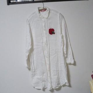 グラニフ(Design Tshirts Store graniph)の腹ペコ青むし レディースロングシャツ(シャツ/ブラウス(長袖/七分))
