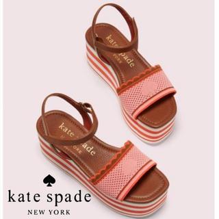 ケイトスペードニューヨーク(kate spade new york)のケイトスペード  ウェッジソール サンダル ピンク(サンダル)