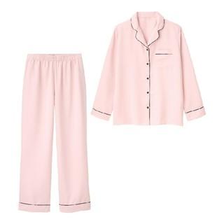 ジーユー(GU)のgu  XL   サテンパジャマ 長袖 ピンク(パジャマ)