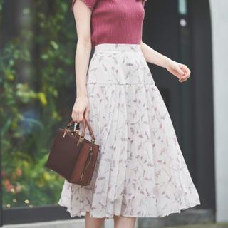Noela - Noela スターチスフラワープリーツスカート
