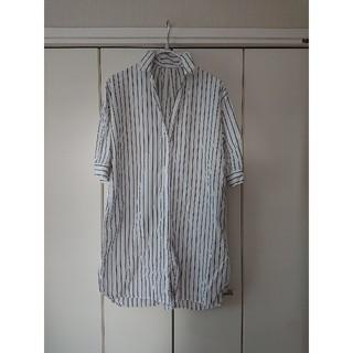 レプシィム(LEPSIM)のLEPSIM ロングストライプシャツ size L(シャツ/ブラウス(長袖/七分))