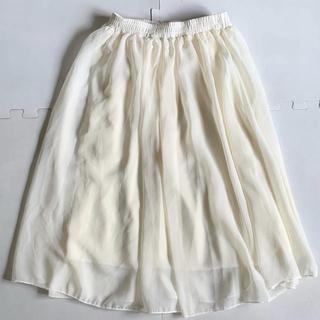 レディース シフォンスカート(ひざ丈スカート)