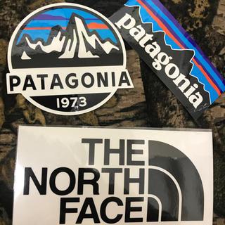 パタゴニア(patagonia)の★補強あり★新品未使用 ノースフェイス&パタゴニア 切り文字 黒&スコープ&P6(その他)