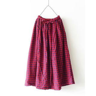 ネストローブ(nest Robe)のichi Antiquite's ウールガーゼチェックスカート(ロングスカート)
