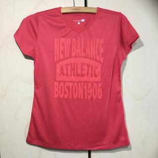 ニューバランス(New Balance)のnew  balance  レディース コンプレッション Tシャツ( ピンク)(ウェア)
