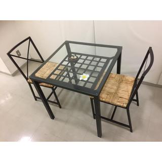 イケア(IKEA)の❤️IKEA❤️バリ風❤️テーブル&椅子のセット❤️引き取り希望‼️お値下げ中(ダイニングテーブル)