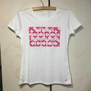 ニューバランス(New Balance)のnew  balance  レディース コンプレッション Tシャツ(白)(ウェア)