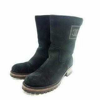 シャネル(CHANEL)のシャネル ブーツ 36 1/2 レディース 黒(ブーツ)