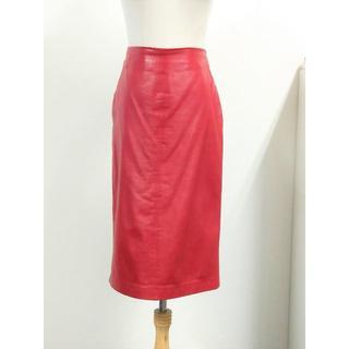 グッチ(Gucci)のグッチ レザータイトスカート No456(ひざ丈スカート)