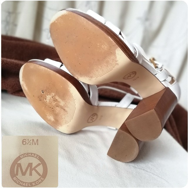 Michael Kors(マイケルコース)のマイケル マイケルコース/チャンキーヒール/サンダル*パンプス6.5(23.5) レディースの靴/シューズ(サンダル)の商品写真