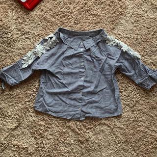 スリーフォータイム(ThreeFourTime)の前後2way ストライプシャツ(シャツ/ブラウス(長袖/七分))