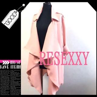 リゼクシー(RESEXXY)の*°♡RESEXXY*°♡トレンチコート美品ピンク(トレンチコート)