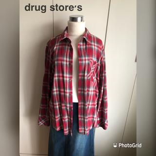 ドラッグストアーズ(drug store's)のdrug store's  長袖 チェック シャツ(美品)(シャツ/ブラウス(長袖/七分))