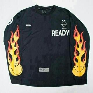 アベイシングエイプ(A BATHING APE)のREADYMADE x FCRB コラボ FLAME ロンT(Tシャツ/カットソー(七分/長袖))