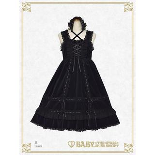BABY,THE STARS SHINE BRIGHT - BABY THE STARS 別珍ベビードール ジャンパースカート 黒