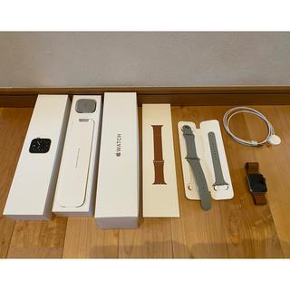 アップルウォッチ(Apple Watch)のApple Watch5 Edition 44mm チタニウム シルバー(腕時計(デジタル))