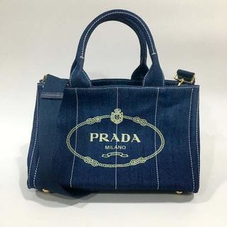 プラダ(PRADA)の送料込 2WAYバッグ デニムブルーPRADA(ショルダーバッグ)
