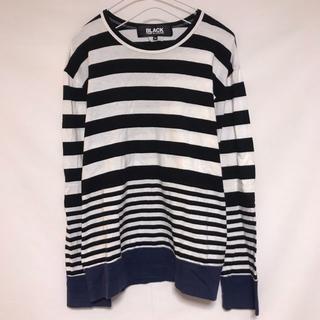 ブラックコムデギャルソン(BLACK COMME des GARCONS)のブラック コムデギャルソン ロンT ボーダー モノクロ 切替 日本製  (Tシャツ(長袖/七分))