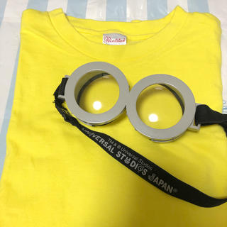 ユニバーサルスタジオジャパン(USJ)の田澤様専用☆ミニオンなりきりセット USJ正規品ゴーグル Tシャツ(衣装一式)