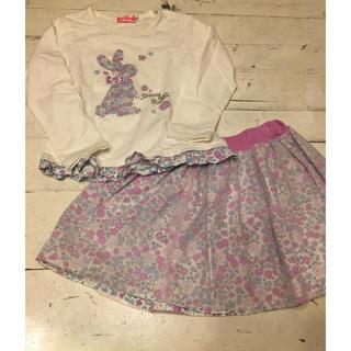 キムラタン(キムラタン)のKissdrop ♡ ウサギロンティスカートセット(Tシャツ/カットソー)