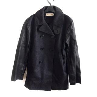 マルニ(Marni)のマルニ Pコート サイズ46 S メンズ美品  黒(ピーコート)