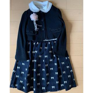 クミキョク(kumikyoku(組曲))のクミキョク ワンピース ジャケット ブラウス コサージュ4点セット(ドレス/フォーマル)