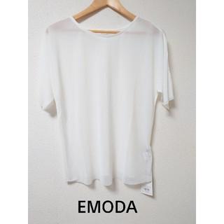 エモダ(EMODA)のタグ付き新品! シースルー半袖カットソー(カットソー(半袖/袖なし))