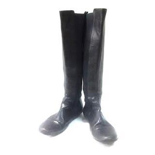 アニエスベー(agnes b.)のアニエスベー ロングブーツ レディース 黒(ブーツ)