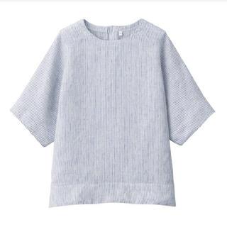 ムジルシリョウヒン(MUJI (無印良品))の新品 無印良品  オーガニックリネン洗いざらし半袖ブラウス  (シャツ/ブラウス(半袖/袖なし))