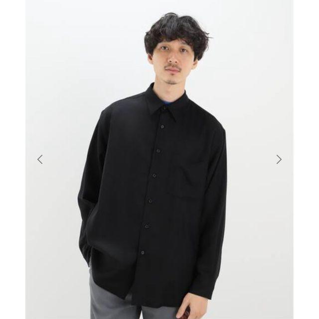 COMOLI(コモリ)のAURALEE オーラリー SUPER LIGHT WOOL SHIRT 黒 3 メンズのトップス(シャツ)の商品写真