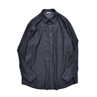 COMOLI - AURALEE オーラリー SUPER LIGHT WOOL SHIRT 黒 3