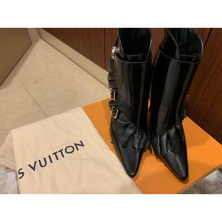 ルイヴィトン(LOUIS VUITTON)のLouis Vuitton レザーショートブーツ(ブーツ)