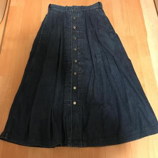 ラルフローレン(Ralph Lauren)の☆Ralpu Lauren☆ダメージデニムロングスカート☆前ボタン女子スカート☆(ロングスカート)