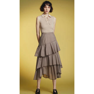 リリーブラウン(Lily Brown)のミディ丈ティアードスカート(ひざ丈スカート)