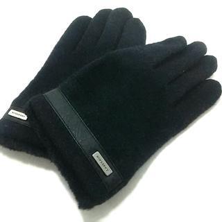 バーバリー(BURBERRY)のバーバリー 手袋 レディース美品  黒(手袋)