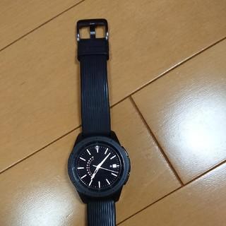 サムスン(SAMSUNG)のギャラクシーウォッチ 42ミリ ミッドナイトブラック(腕時計(デジタル))