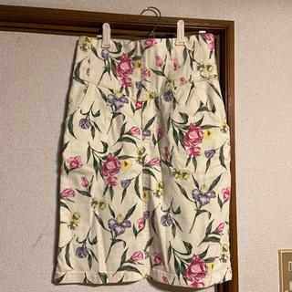 ロイヤルパーティー(ROYAL PARTY)の花柄 タイトスカート(ひざ丈スカート)