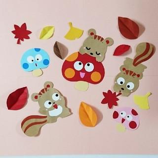 りす 壁面飾り(型紙/パターン)