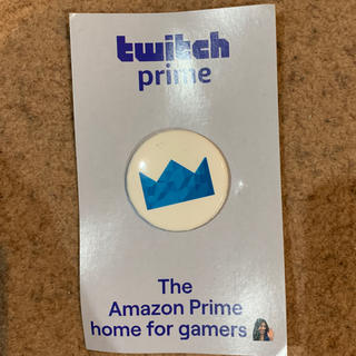 Twich prime can badge 缶バッジ 非売品(バッジ/ピンバッジ)