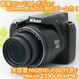 Nikon - ★スマホ転送できる♪カッコイイコンパクトデジタルカメラ!☆ニコン P90★