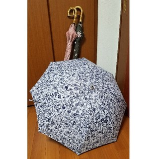 ミナペルホネン(mina perhonen)のクラムボンちゃん様専🌷天然竹🎵ワンタッチ晴雨兼用傘🌷letter of f(傘)
