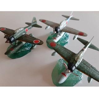 カイヨウドウ(海洋堂)の1/144 ワールドウイングスミュージアム 海洋堂 二式水戦 3機セット(模型/プラモデル)