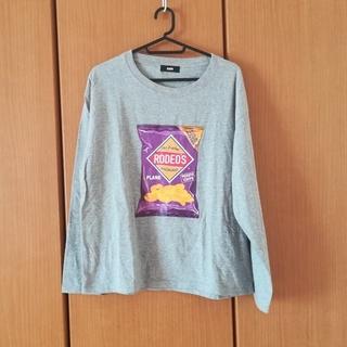 ロデオクラウンズワイドボウル(RODEO CROWNS WIDE BOWL)の新品 ポテチ柄ロンTシャツ(Tシャツ(長袖/七分))