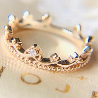 ノジェス(NOJESS)のk10 ノジェス フェアリー クラウン 王冠 ピンキー リング k18 好きに(リング(指輪))