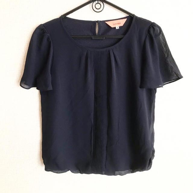 SunaUna(スーナウーナ)のSunaUna・ネイビー上品ブラウス レディースのトップス(シャツ/ブラウス(半袖/袖なし))の商品写真